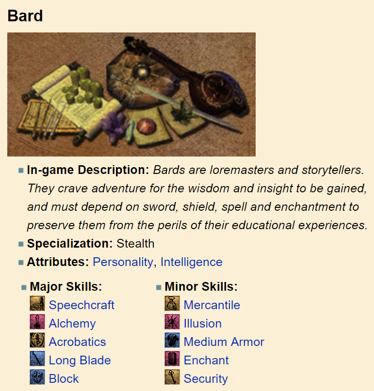 Morrowind Character Guide Series: The Bard
